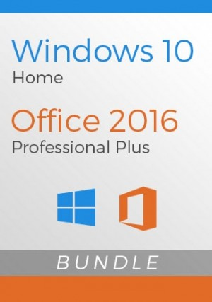 Windows 10 Home + Office 2016 Pro - Package